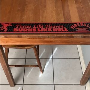 Fireball 🥃 whiskey Bar Mat.""